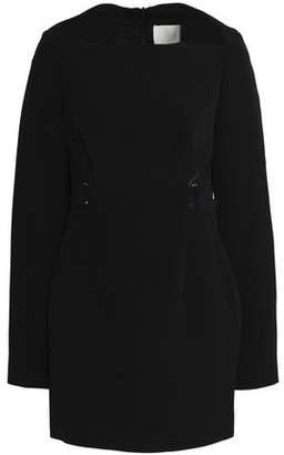 Dion Lee Mesh-Trimmed Crepe Mini Dress