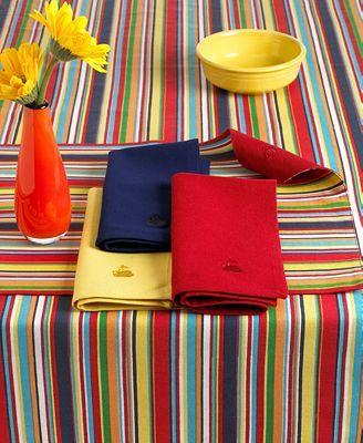 Fiesta Rainbow Burst Napkins, Set of Four, 17x17