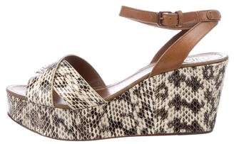 Tory Burch Embossed Platform Sandals