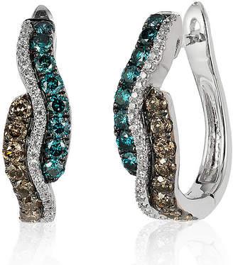 LeVian CORP Le Vian Grand Sample Sale Vanilla Diamonds, Chocolate Diamonds, & Iced Blueberry Diamonds Earrings set in 14K Vanilla Gold