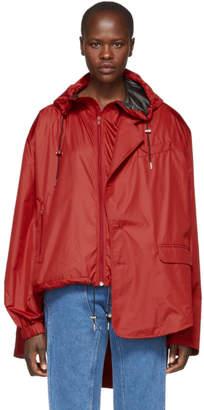 Y/Project Red Raincoat Blazer Jacket