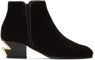 Giuseppe Zanotti Black Suede Nicky 40 Boots