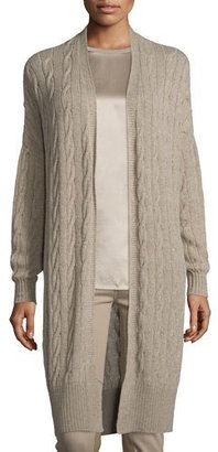 Ralph Lauren Collection Cable-Knit Cashmere Long Cardigan, Taupe $1,150 thestylecure.com