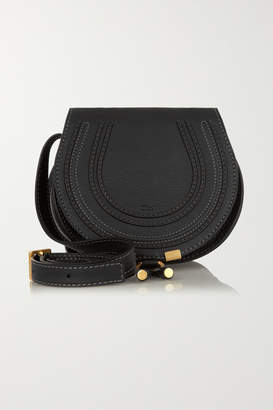 Chloé The Marcie Mini Textured-leather Shoulder Bag - Black