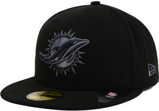 New Era Miami Dolphins Black Gray 59FIFTY Cap