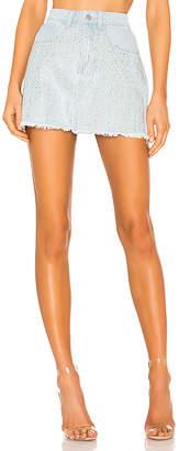 superdown Kandi Iridescent Rhinestone Skirt