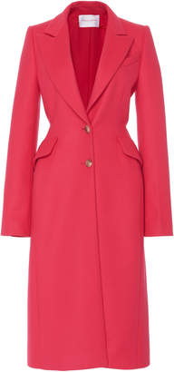 Carolina Herrera Notched Lapel Wool Coat