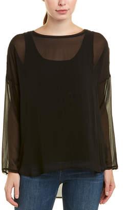 Gold Hawk Sheer Silk Tunic