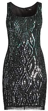 Aidan Mattox Women's Sequin Sleeveless Sheath Dress - Size 0