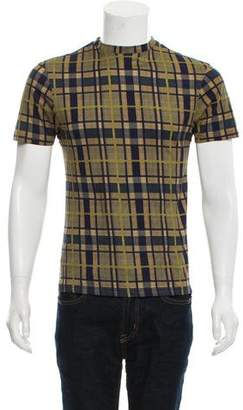 Christopher Kane Plaid Pattern T-Shirt