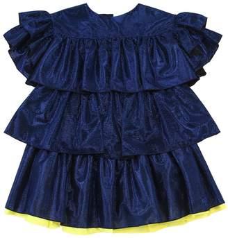 Kenzo Ruffled Tier Lurex Party Dress