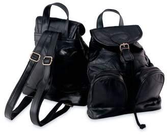 Maxam® Maxam Italian Mosaic Design Genuine Lambskin Leather Backpack/Purse