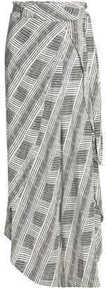 Vix Paula Hermanny Printed Crepe Coverup