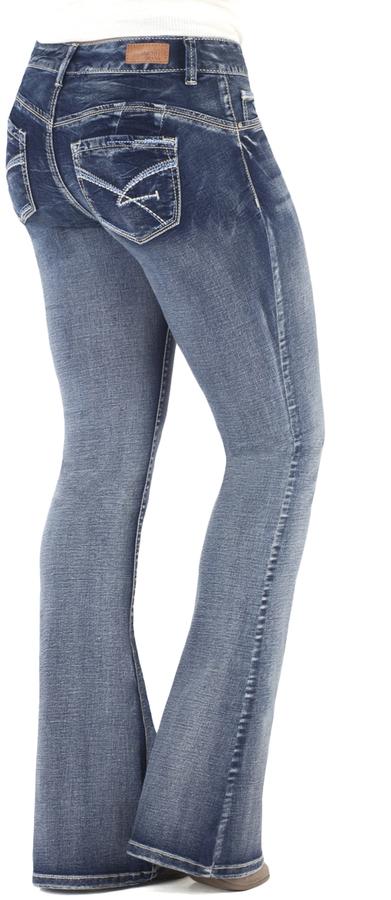 Dark Blue Lizzy High-Waist Jeans