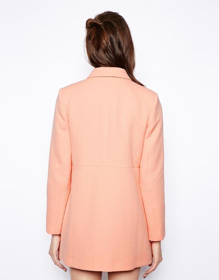 Asos Dolly Coat in Jacquard