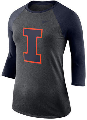 Nike Women's Illinois Fighting Illini Dri-Blend Raglan T-Shirt