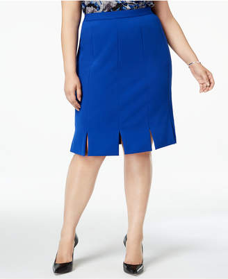 Kasper Plus Size Carwash-Hem Skirt