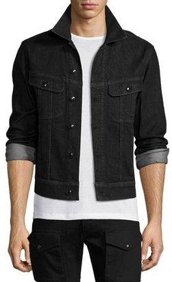 Ralph Lauren Trucker Denim Jacket, Black $795 thestylecure.com