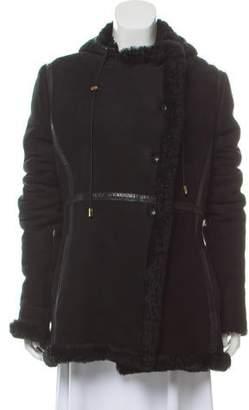 Altuzarra Shearling-Trimmed Leather Coat