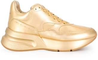 Alexander McQueen metallic extended sole sneakers
