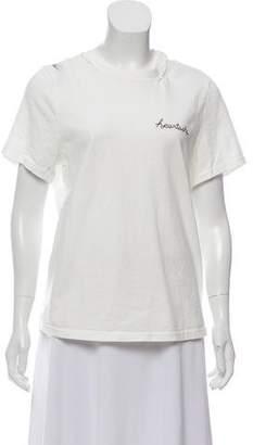Cinq à Sept Distressed T-Shirt