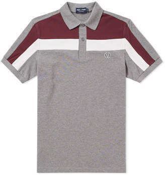 Fred Perry Authentic Colour Block Panel Pique Polo