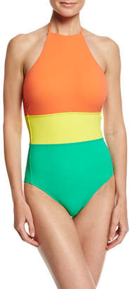 Diane von Furstenberg Halter-Neck One-Piece Swimsuit