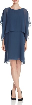 Eileen Fisher Silk Flutter Sleeve Popover Dress $348 thestylecure.com