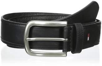 Tommy Hilfiger Men's 35mm Vegetable Round Edge Belt