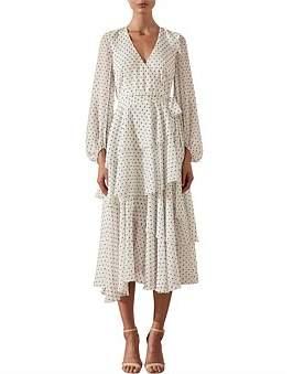 Shona Joy Wilder Tiered Midi Dress