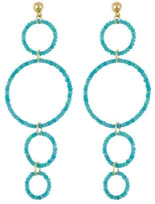 Gorjana Sayulita Beaded Multi Hoop Drop Earrings