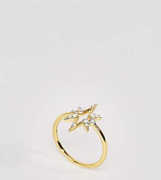 Carrie Elizabeth 14K Gold Diamond Starburst Ring