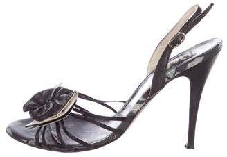 Dolce & Gabbana Leather Slingback Sandals