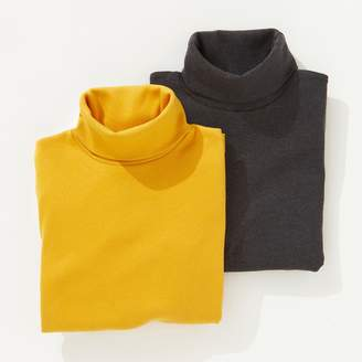 La Redoute Collections Pack of 2 Polo-Neck Shirts, 3-12 Years