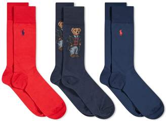 Polo Ralph Lauren Bear Sock - 3 Pack
