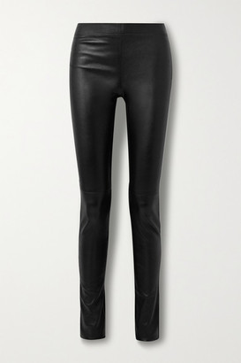 Joseph Stretch-leather Leggings - Black