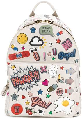Anya Hindmarch all over stickers mini backpack