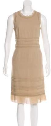 Paule Ka Ruffle-Accented Sleeveless Dress