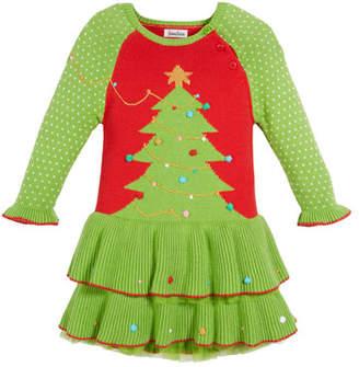 Zubels Knit Christmas Tree Dress, Size 12M-5