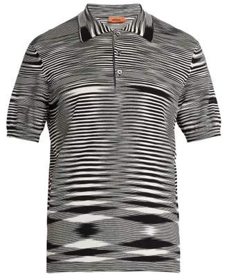Missoni Space Dyed Cotton Polo Shirt - Mens - Black White