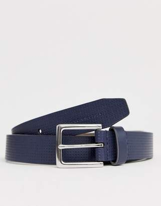 French Connection perforated buckle belt