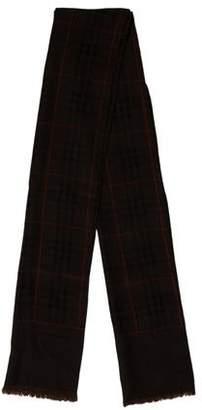 Burberry Wool Raw-Edge Scarf