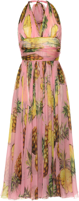 Dolce & Gabbana Pineapple Printed Gown $3,795 thestylecure.com
