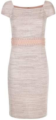 St. John Tweed Macrame Dress