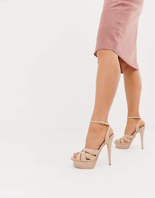 Lipsy platform heeled sandal in pink