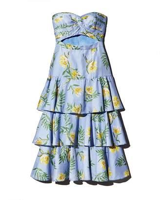 AMUR Radiant Floral Strapless Dress