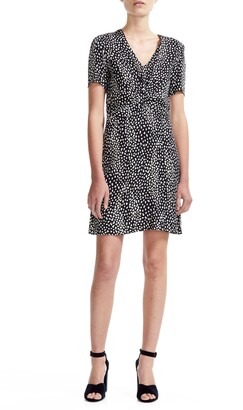 Maje Ripi Animal Print Dress
