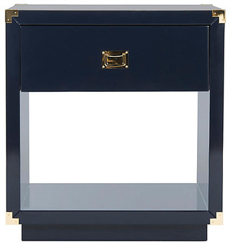 One Kings Lane Lella Lacquer Nightstand - Navy