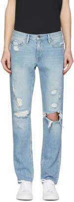 Frame Blue LHomme Slim Raw Edge Jeans