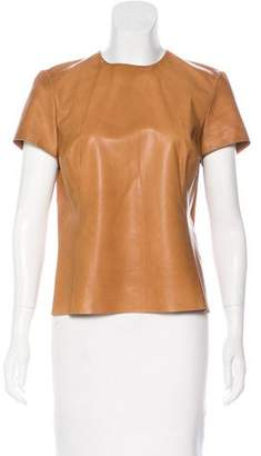 Ralph Lauren Leather Short Sleeve Top